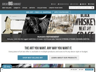 Go to greatbigcanvas.com website.