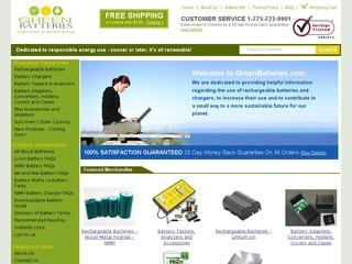 Go to greenbatteries.com website.