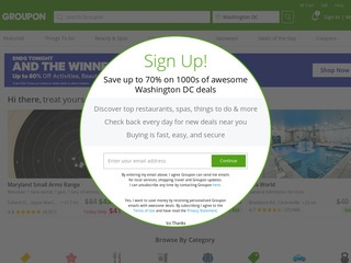 This is what the groupon.com website looks like.