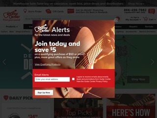 Go to guitarcenter.com website.