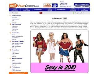Go to halfpricecostumes.com website.