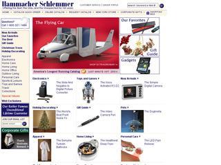 Go to hammacher.com website.