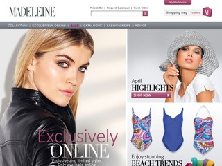 Go to madeleine-fashion.co.uk website.