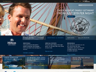 This is what the www3.hilton.com website looks like.