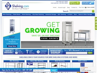 Go to Shelving.com website.