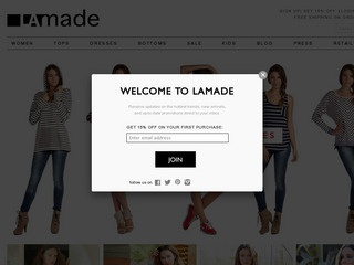 Go to lamadeclothing.com website.