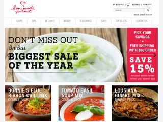 Go to shop.homemadegourmet.com website.