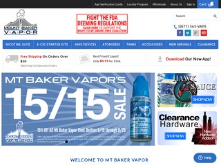 Go to mtbakervapor.com website.