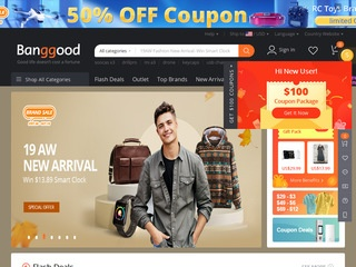 Go to banggood.com website.