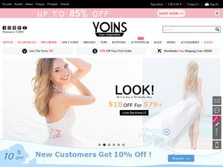 Go to yoins.com website.