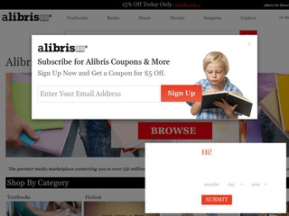 This is what the alibris.com website looks like.