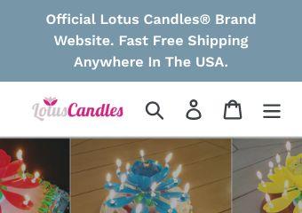 Go to lotuscandles.com website.