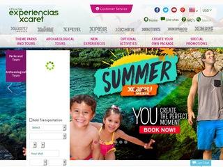 Go to en.xcaretexperiencias.com website.