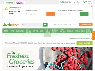 Go to freshdirect.com website.