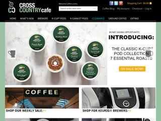 Go to crosscountrycafe.com website.