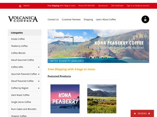 Go to volcanicacoffee.com website.