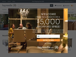 This is what the hayneedle.com website looks like.