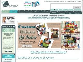 Go to designityourselfgiftbaskets.com website.