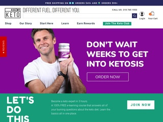 Go to kissmyketo.com website.