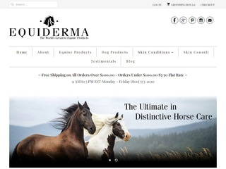 Go to equiderma.com website.