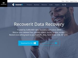 Go to recoverit.wondershare.com website.