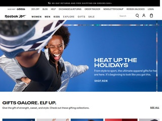 Go to Reebok website.