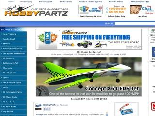 Go to hobbypartz.com website.