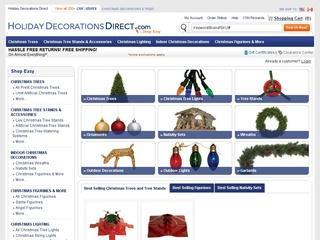 Go to holidaydecorationsdirect.com website.