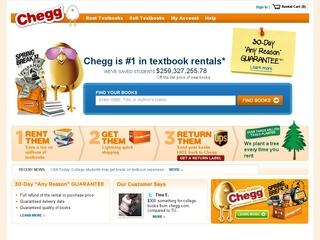 Go to Chegg.com website.
