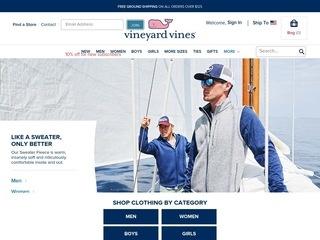 Go to vineyard vines website.