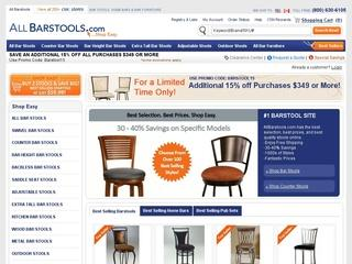 This is what the allbarstools.com website looks like.