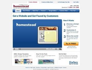 Go to homestead.com website.