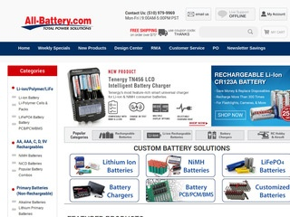 This is what the all-battery.com website looks like.