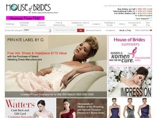 Go to houseofbrides.com website.