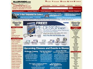 This is what the allbrands.com website looks like.