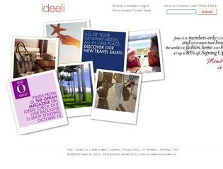Go to ideeli.com website.