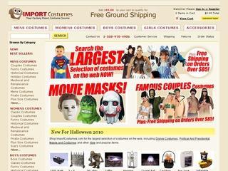 Go to importcostumes.com website.