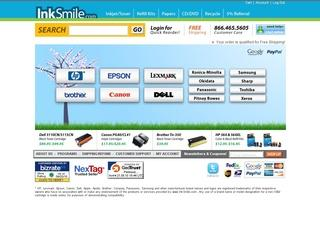 screenshot of InkSmile Cartridge website