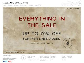 Go to us.allsaints.com website.