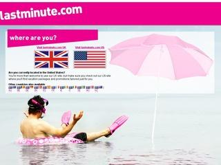 This is what the lastminute.com website looks like.