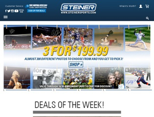 Go to steinersports.com website.