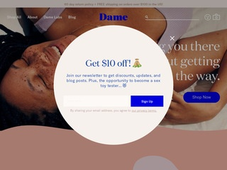 Go to Dame Products website.