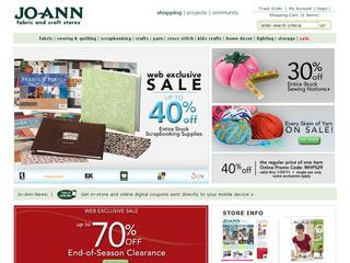 Go to joann.com website.