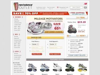 This is what the joesnewbalanceoutlet.com website looks like.
