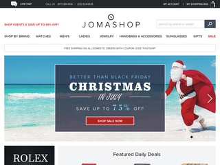 This is what the jomashop.com website looks like.