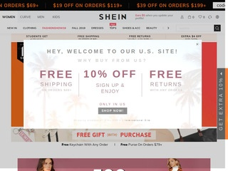 Go to SheIn website.