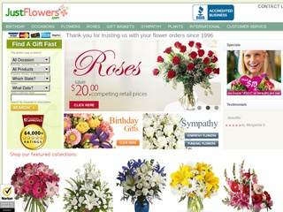 Go to justflowers.com website.