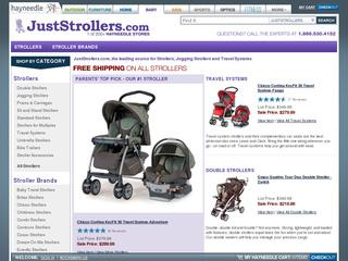 Go to juststrollers.com website.