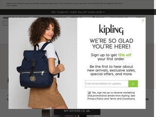 Go to Kipling USA website.