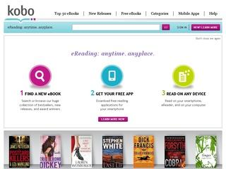 This is what the kobobooks.com website looks like.